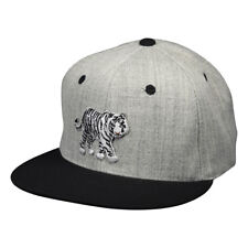White Tiger Hat by LET'S BE IRIE - Heather Grey with Black Accents Snapback