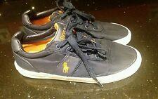 Polo By Ralph Lauren  Canvas plimsoles pumps Trainers UK 7 navy blue/orange