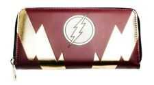 The Flash Logo Red and Gold Zip Around Clutch Wallet