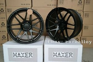 New 19 inch 5x120 HAXER HX 020 wheels for BMW E60 E63 CONCAVE Vossen black BBS