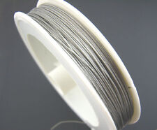 6METER WHITE COLOUR TIGER TAIL BEADING WIRE 0.45MM THICK STRING CORD JEWELLRY