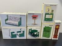Sylvanian Families Green Furniture Post Set Vintage Calico Critters Epoch w/Box