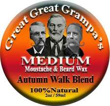 """Autumn Walk"" Blend - WHITE-WAX - 2oz Mustache & Beard Wax Medium Hold"