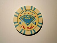 THE LAS VEGAS CLUB VINTAGE $1CASINO CHIP LAS VEGAS NEVADA WE COMBINE SHIPPING *