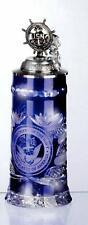 Cristal Chope à Bière - États-unis -deckel Gouvernail  germany zinndeckel