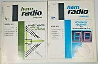 Ham Radio Magazine April 1979 and March 1979