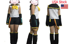 VOCALOID 2 Rin Kagamine Cosplay Costume