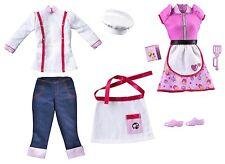 Muñeca Barbie puedo ser un chef Fashion Pack-Ropa Nueva Sombrero Delantal Cook Set w3750