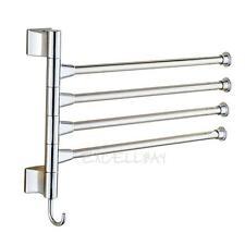 Towel Holder Swivel Bars Stainless Steel Bath Rack Rail Hanger Bathroom She E0Xc