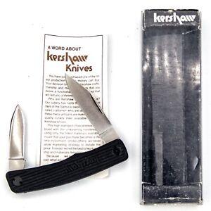 1985-89 KERSHAW JAPAN Pocket Knife 1st Generation D.W.O. 4300TF 2bl Pen MINT+BOX