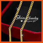 24K PLAIN GOLD FILLED 2MM CURB RING CHAIN for pendant SOLID WOMENS KIDS NECKLACE