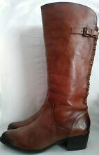 Arturo Chiang Brown Knee High Riding Boots Size 10