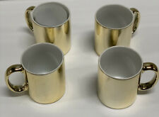 GEARYS BEVERLY HILLS Gold Coffee Mugs / Cups (Set of 4)