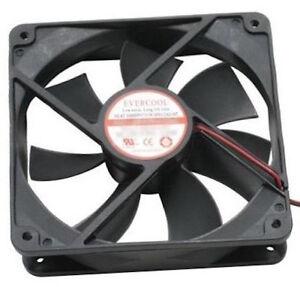 Evercool 120mm x 120mm x 25mm High Speed DC Fan 4 PIN 2000rpm EC12025M12C NEW
