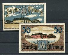 Sonderburg 10 + 50 Pfennig Notgeld Verkehrsausgabe