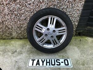 """HYUNDAI I10 2008-2011 14"""" INCH 5 SPOKE ALLOY WHEEL AND TYRE FREE FAST P+P"""