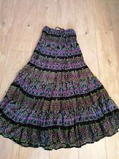 Hippy boho maxi skirt