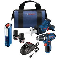 Bosch GXL12V-310B22 12V Max 3-Tool Combo Kit with 3/8 In. Drill/Driver, Pocket