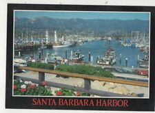 Santa Barbara Harbor USA 1990 Postcard 712a
