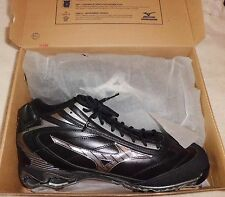 NEW Mizuno Baseball 9 Spike Pro Limited G4 Mid Leather sz 16 Mens Black Cleats