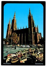 Wiesbaden Marktkirche Protestant Church Postcard Hesse Germany Neo Gothic Fruit