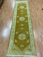 """2'8"""" x 9'8"""" Chinese Aubusson Oriental Rug - Hand Made - 100% Wool"""