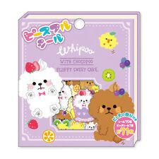71X Kawaii Whipped Cream Poodle Flake Sticker Sack Bag Cute Japanese Stationery
