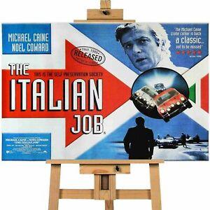 Italian Job Michael Caine  Movie Poster Canvas Print Wall Art