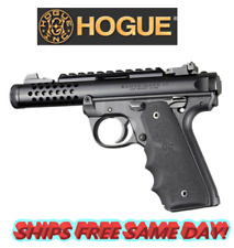 Hogue Ruger 22/45 Mkiv: Black Rubber Grip with Finger Grooves # 79080