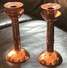 Newlyn Copper Candlesticks