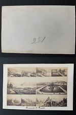 Dikenmann, Suisse, Genève, mosaïque  Vintage albumen carte de visite, CDV.