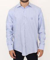 NEW $300 CLASS ROBERTO CAVALLI Shirt Light Blue Cotton Long Sleeve Casual s. XL