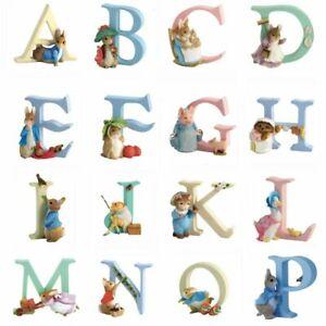 Beatrix Potter Alphabet Letters By Border Fine Arts Figurine Ornament FULL RANGE