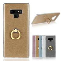 Shockproof Soft TPU Rubber Case Cover Ring Grip Holder Stand For Samsung Galaxy