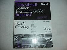 1998 Mitchell European BMW Porsche VW Collision Parts Estimating Manual Guide GC