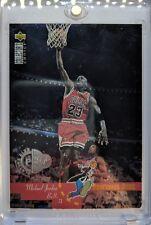 Michael Jordan 1995 Collectors Choice Players Club Platinum Proff. Dunk #195 SP