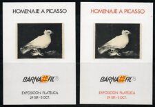 Hoja Recuerdo  1978  Edifil 67 / 68 HOMENAJE A PICASSO  BARNAFIL 78