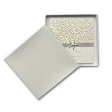 60 x Rigid Wedding Invitation Box - Square - S.Dream Quartz 150x150mm
