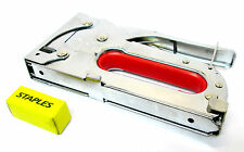Metal  Staple Gun / Stapler Accepts 6 - 8mm Staples x 200 Woodwork New  TZ ST002