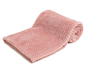 Rose Gold Personalised Embroidered Waffle Blanket Soft  Baby Girl Fast Dispatch!