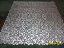 "Lace Window Panel  White  design  63""L x 62""W"