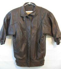 J Walden Womens Leather Coat Size 7/8 Thermolite Vintage