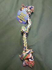 "Chien chiot pull play triple noeud corde jouet 20"""