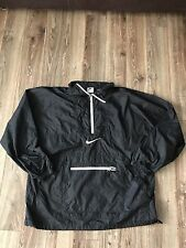 VTG 90s Nike Air Black White Colorblock Pouch Zip Pullover Windbreaker Size L