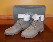 Timberland Jayne Teddy Fleece Fold Down Waterproof Boot Sz 8.5 MSRP $160 Taupe