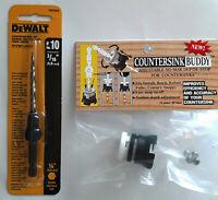 ".DeWALT #10 3/16"" countersink drill bit  bundle w/ Adjustable Depth Stop"