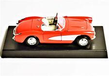 1957 Red Chevy Corvette Die Cast 1:18 Scale Convertible Sports Car Road Legends