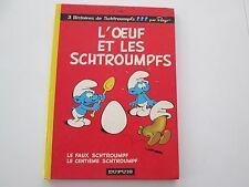 SCHTROUMPFS L'OEUF ET LES SCHTROUMPFS 1975 BE/TBE DOS ROND