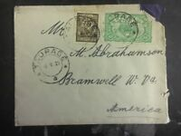 1925 Taurage Lithuania cover to Bramwell Usa