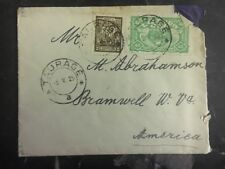 1925 Taurage Lithuania cover to Bramwell Usa